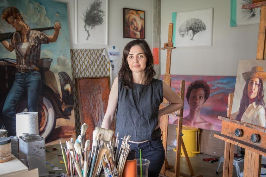 Felice House in her studio